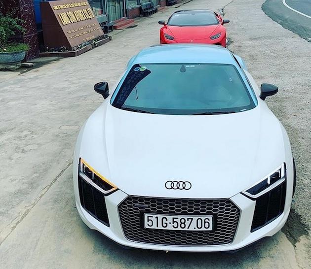 """Audi R8 V10 Plus của Cường Đô la mặc """"áo"""" mới 5a"""