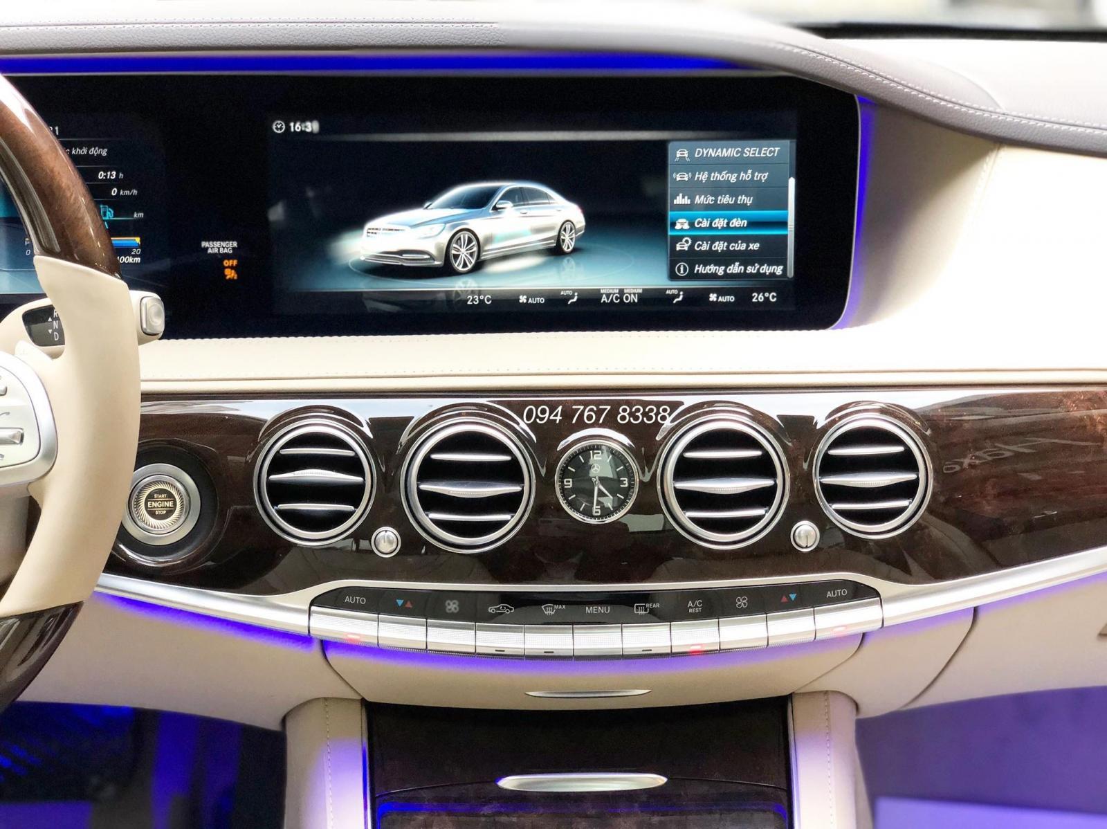 Bán Mercedes S450L 2019 xanh cavansite nt kem chính chủ, chạy lướt, biển đẹp