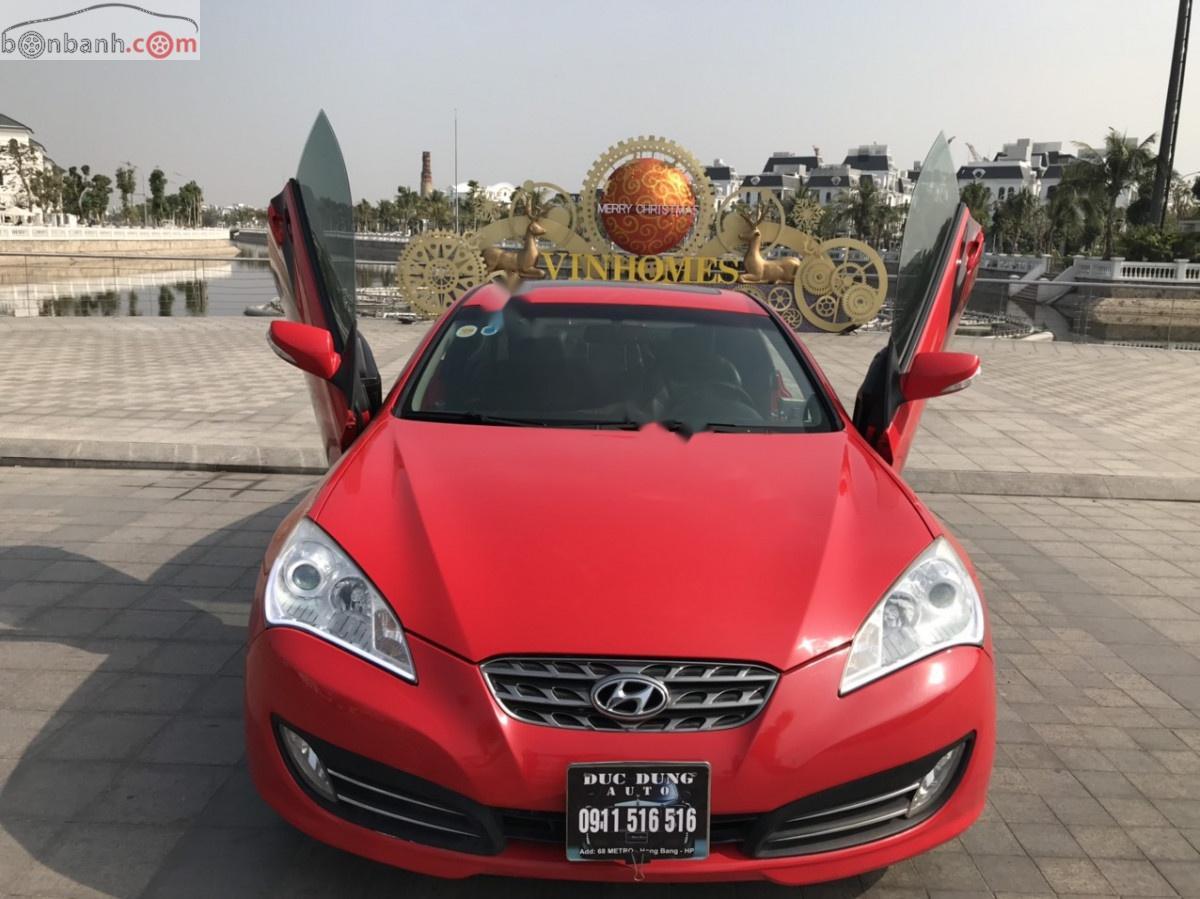 Cần bán Hyundai Genesis năm 2009, màu đỏ, nhập khẩu nguyên chiếc số tự động